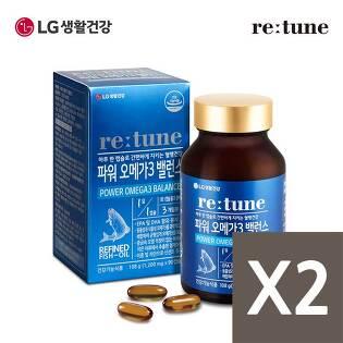 [LG생활건강]리튠 파워 오메가3 밸런스(90캡슐/3개월분)x2개