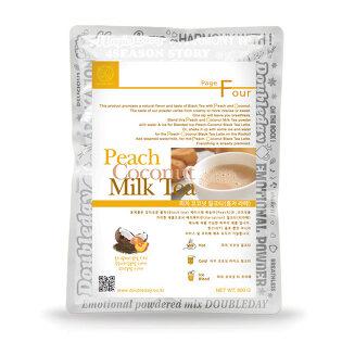 [더블데이] 피치코코넛 밀크티 800g /홍차라떼파우더/버블티파우더/밀크티파우더