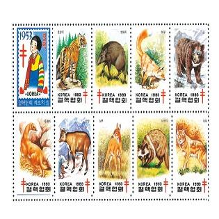 [대한결핵협회 크리스마스 씰] 1983년 야생동물(9종),협회 첫 씰(1종)