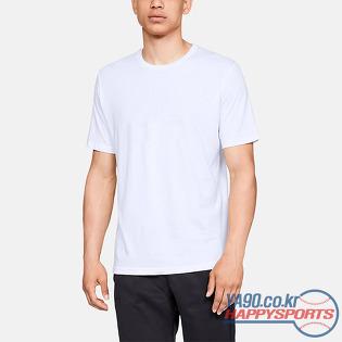 [언더아머] UA 무지 반팔 티셔츠 (화이트 100) (유소년사이즈~성인사이즈)