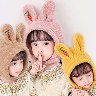 [핵귀요미 탄생!] 주부9단 심쿵! 토끼 뽀글이 귀달이 모자 무료배송