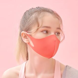 에어길 AIRGILL 빨아쓰는 3D마스크 연예인 패션마스크 숨쉬기편한 스위트코랄 주황마스크