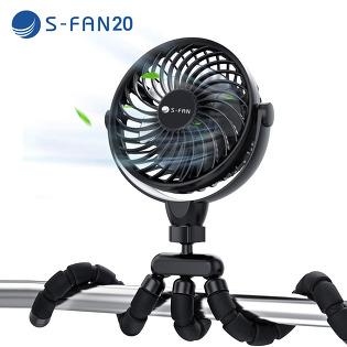 휴대용 선풍기 무선 차량용 캠핑 선풍기 유모차 써큘레이터 S-FAN20