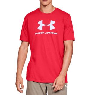 언더아머 1329590-600 UA 스포츠스타일 로고 반팔 티셔츠 (레드)