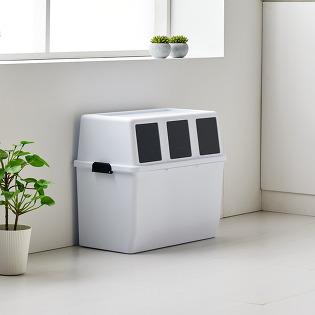 에코담 적층형 3구 가정용 재활용 분리수거함(분리수거 스티커+전용비닐 30매 증정)