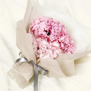 [당일배송] 핑크수국 (꽃다발, 기념일, 커플, 선물, 프로포즈, 고백, 꽃배달)