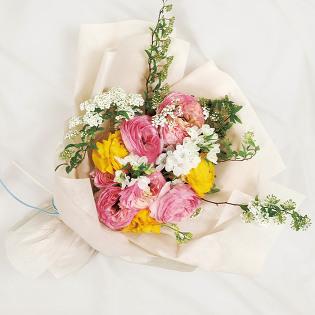 [당일배송] 수줍은 봄 (꽃다발, 기념일, 커플, 선물, 프로포즈, 고백, 꽃배달)